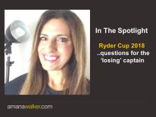 In The Spotlight - Ryder Cup Questions AW